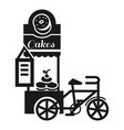 street cake kiosk icon simple style vector image
