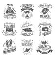 Summer holidays black labels set vector image vector image