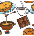 swiss cuisine traditional food and drink seamless vector image