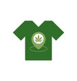 t-shirt with marijuana leaf store location icon vector image vector image