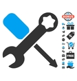 Tools Icon With Free Bonus vector image vector image