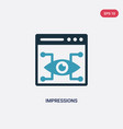 two color impressions icon from technology vector image