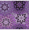 Violet seamless design in oriental style Stellar vector image vector image