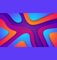 wavy colorful background with 3d style modern vector image