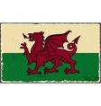 Welsh grunge flag vector image vector image