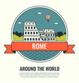 world landmarks italy travel and tourism vector image vector image