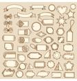 tags ribbons frames-02 vector image