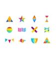 Colorful logos sat vector image