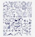 mega collection of hand drawn arrow charts vector image