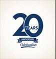 20 years anniversary black template background