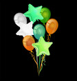 a bunch balloons in colors irish vector image