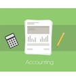 Accounting document vector image