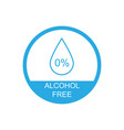 alcohol free icon symbol eps10 vector image