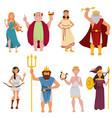 Ancient greek gods cartoon characters
