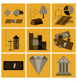 assembly of flat icons economics business finance vector image vector image