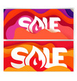 banners template with abstract color waves sale vector image vector image