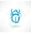 beetle grunge icon vector image