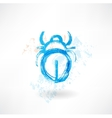 beetle grunge icon vector image vector image