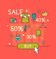 best sale in cartoon style vector image vector image