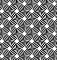 Black and white striped grid vector image vector image