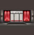 boutique shop facade with signboard vector image vector image