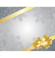 bow on a ribbon with white background vector image vector image