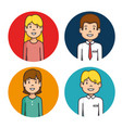 business people icons set vector image