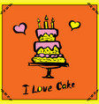 cake hand drawn vector image vector image