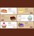 cakes variety page online shop vector image vector image
