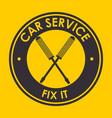 car service logo vector image