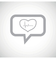 Cardiology grey message icon vector image vector image