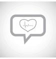 Cardiology grey message icon vector image vector image
