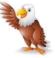 cartoon eagle presenting vector image