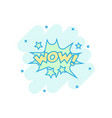 cartoon wow comic sound effects icon in comic vector image