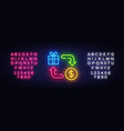 cash back neon icon cash back neon sign vector image