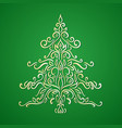 christmas element for holiday card gold christmas vector image