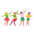 christmas party girls woman new year celebration vector image