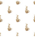 coffee cup triangle pattern backgrounds vector image vector image