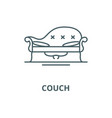couch line icon linear concept outline vector image vector image