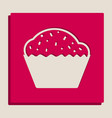 cupcake sign grayscale version of popart vector image vector image