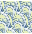 decorative pattern of the plant and abstract vector image vector image