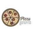 delicious pizza isolated icon design vector image vector image