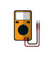 electrical test meter vector image vector image