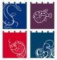 Fish fabric designs vector image vector image