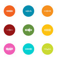 fluctuation icons set flat style vector image vector image