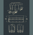grain hopper wagon vector image vector image