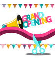 grand opening banner vector image vector image