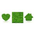 green grass background lawn field grass texture vector image
