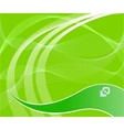 green technological background vector image vector image