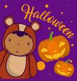 halloween and kids cartoons vector image vector image